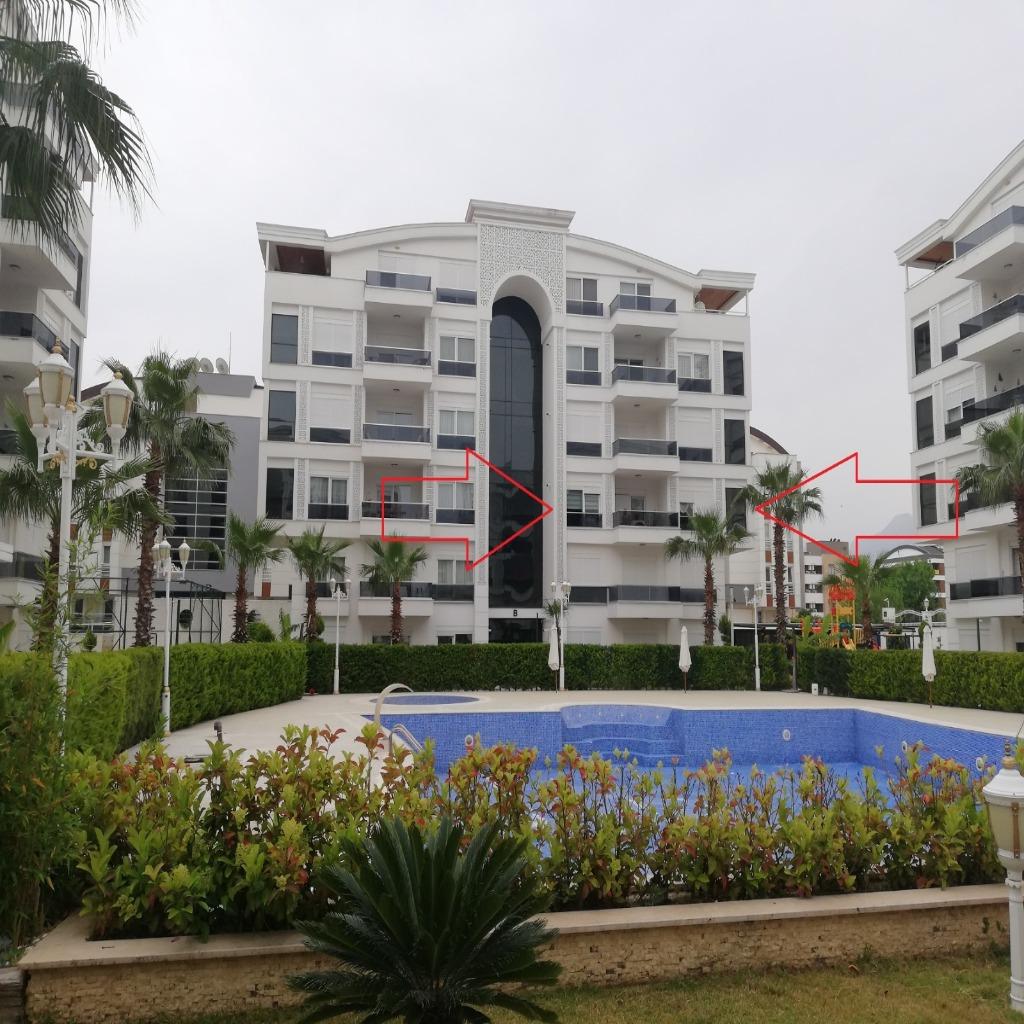 شقة للبيع بي أنطاليا صالحة للجنسية تركية ضمن مجمع فخم جدا